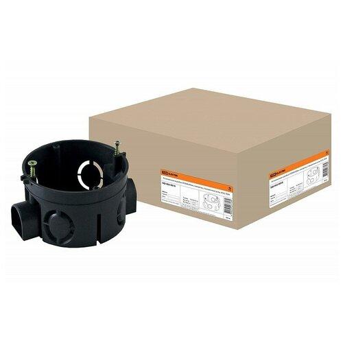 Установочная коробка СП D68х40мм, саморезы, стыковочные узлы, IP20, TDM