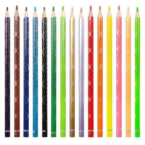 Карандаши цветные Kores Style 15 цветов 1311704