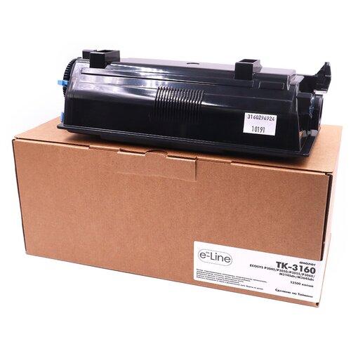 Тонер-картридж e-Line TK-3160 для Kyocera ECOSYS P3045 (Чёрный, 12500 стр.)