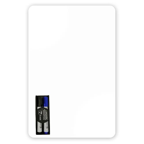Магнитная маркерная доска Doski4you большая на холодильник для рисования записей заметок + маркеры/ whiteboard
