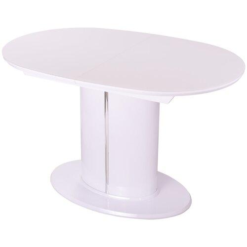 Стол кухонный раздвижной со стеклом, обеденный Болеро О-1 БГ ст-БЛ 06-1 БГ. Размеры стола (ДхШхВ):120(160)х80х75 см