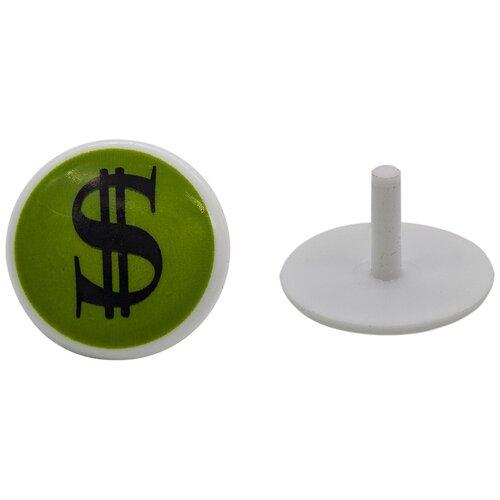 Г41-2цв Аксессуары для игрушек D-2,5см пластик. (арт.85 доллар/зел.) 50 шт