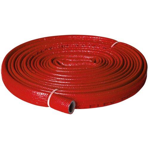 Теплоизоляция для труб K-FLEX PE COMPACT в красной оболочке 18/4 бухта 10м теплоизоляция для труб k flex каучук 54х13х2000 мм черная