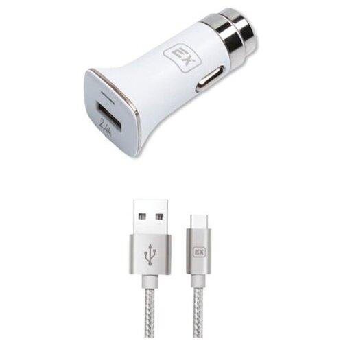 Фото - Зарядное устройство Exployd Sonder 1xUSB 2.4A QC3.0 + кабель Type-C White EX-Z-633 зарядное устройство exployd sonder 2xusb 3 4a white ex z 775