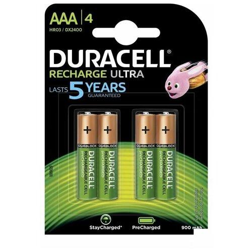 Фото - Аккумулятор Duracell AAA/HR03-4BL (1.2 В, 900 mAh) NiMH (блистер, 4шт.) (280487) батарея duracell ultra power lr03 4bl aaa 4шт