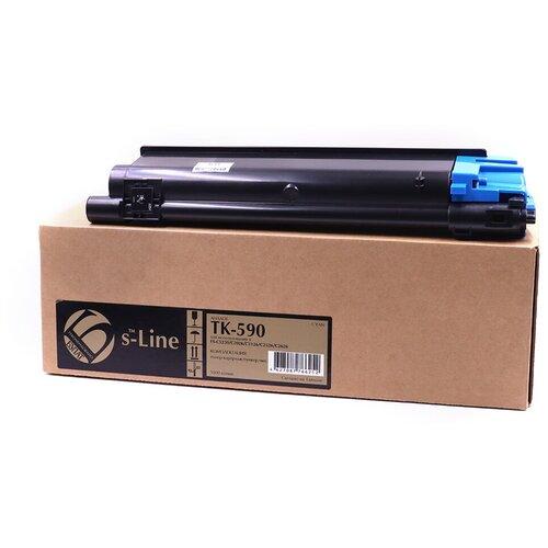 Фото - Тонер-картридж булат s-Line TK-590C для Kyocera FS-C2026MFP, FS-C2126MFP, FS-C2526MFP, FS-C2626MFP (Голубой, 5000 стр.) картридж kyocera tk 8600c для fs c8600dn fs c8650dn голубой 20000стр