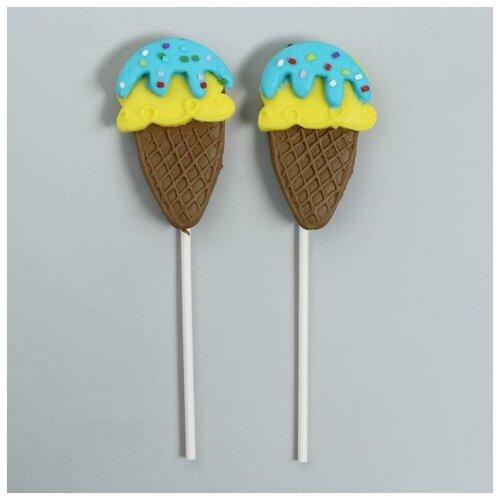 Страна Карнавалия Топпер «Мороженое», набор 2 шт., цвета микс страна карнавалия набор бумажной посуды с днем рождения маленький джентельмен 3877347 19 шт голубой