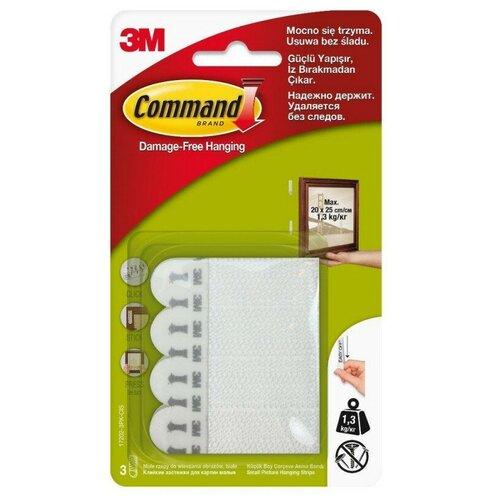 Застежки клейкие для картин Command,бел.,малые,3 пары,17202-3PK(7100139431) 2 шт.