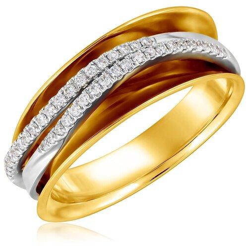 Бронницкий Ювелир Кольцо из желтого золота мзH04146R, размер 16.5