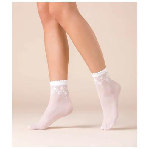 Капроновые носки Gabriella Bloom 526, размер One size, bianco