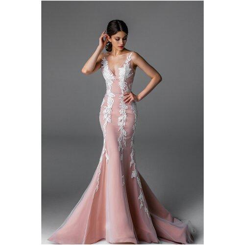 Свадебное платье Aria di Lusso Лиана размер 44 пудра/молоко