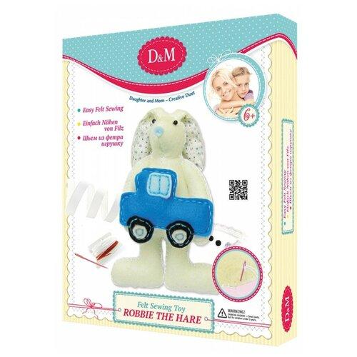 делай с мамой шьем игрушку из фетра том гадкий я D&M Шьем из фетра игрушку Зайчонок Робби (18797) белый/синий