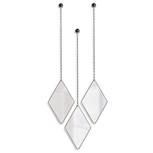 Зеркала декоративные Dima цвет черный, материал металл, Umbra, 358777-040 umbra комплект зеркал dima 3 шт