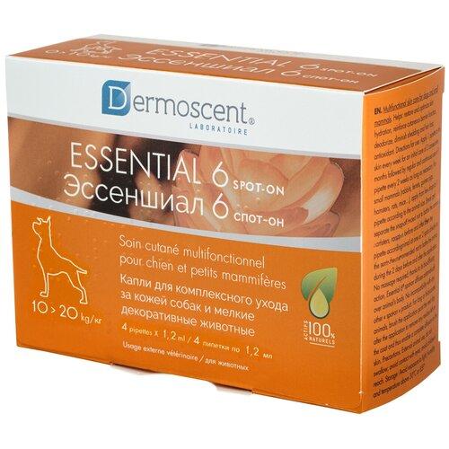 ЭССЕНШИАЛ 6 СПОТ-ОН капли для собак весом от 10 до 20 кг для комплексного ухода за кожей уп. 4 пипетки (4 пипетки)