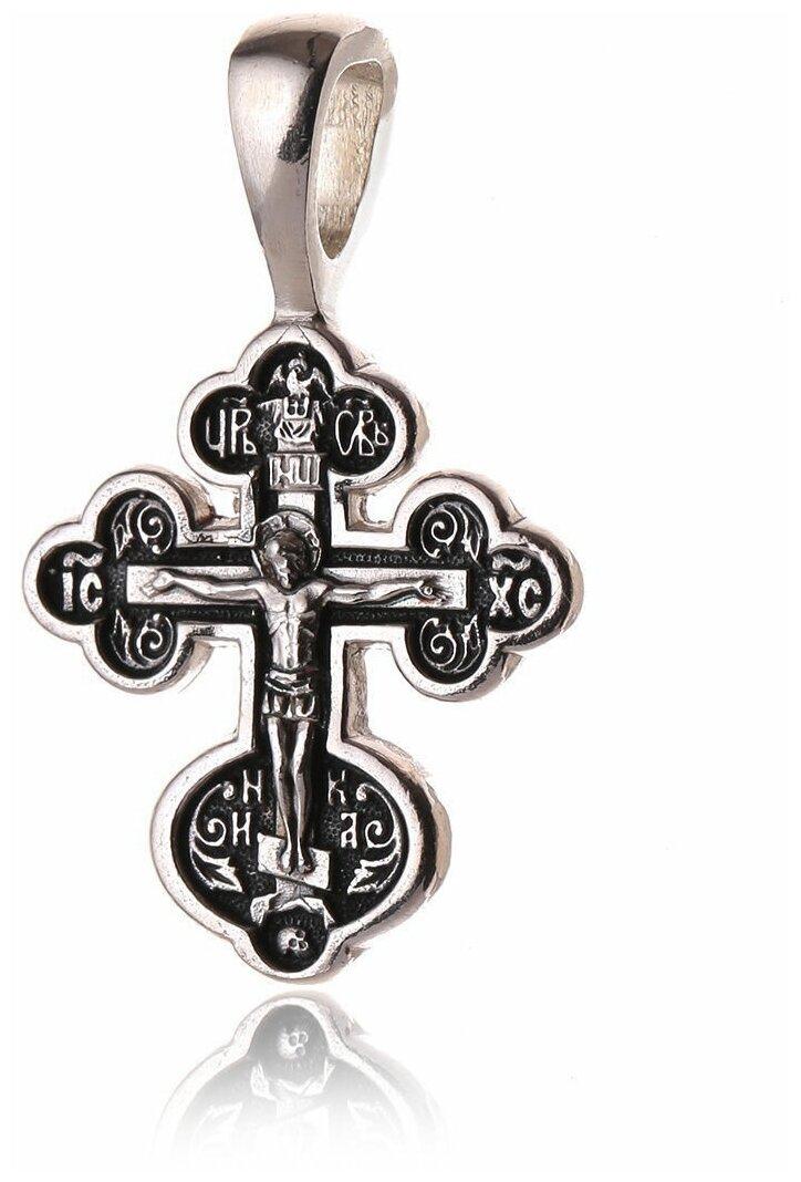 TOP CRYSTAL Крест нательный с Распятием Иисуса Христа и Прокименом 11012318 — купить по выгодной цене на Яндекс.Маркете