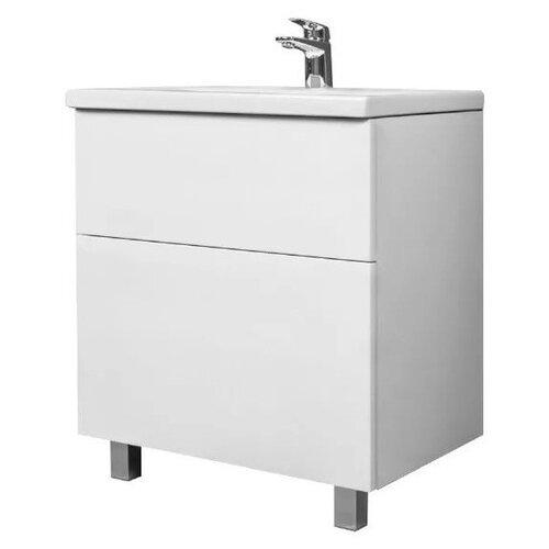 Фото - Тумба для ванной комнаты с раковиной AM.PM Gem напольная (эмалированные фасады), ШхГхВ: 76х42х81 см, цвет: белый глянец тумба для ванной комнаты с раковиной am pm like напольная шхгхв 80х45х85 см цвет белый глянец