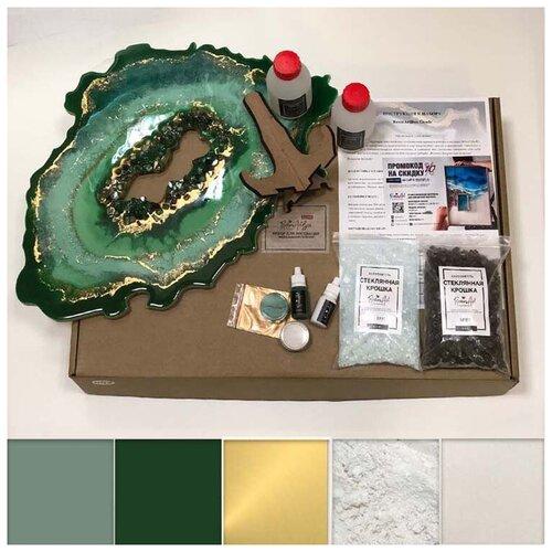 Купить Набор для создания картины эпоксидной смолой ResinArt ResinArtBox Geode 1, Наборы для декупажа