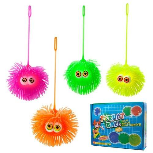Игрушка-антистресс Junfa Мялка Мячик Junfa, световые эффекты, в дисплее 12 шт