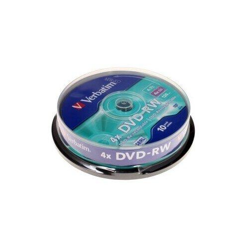 DVD-диск Диск Verbatim DVD-RW Cake Box (10шт)