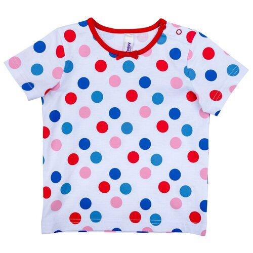 комплект одежды playtoday размер 92 красный белый темно синий Футболка playToday, размер 92, белый/голубой/красный