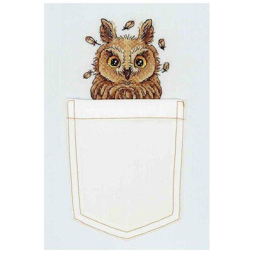 Купить Жар-птица Набор для вышивания на одежде Любопытная совушка 9 x 9 см (В-245), Наборы для вышивания
