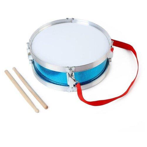 Купить Барабан Профи , с металлическим ободом и деревянными палочками, d=29 см 5354650, Сима-ленд, Детские музыкальные инструменты