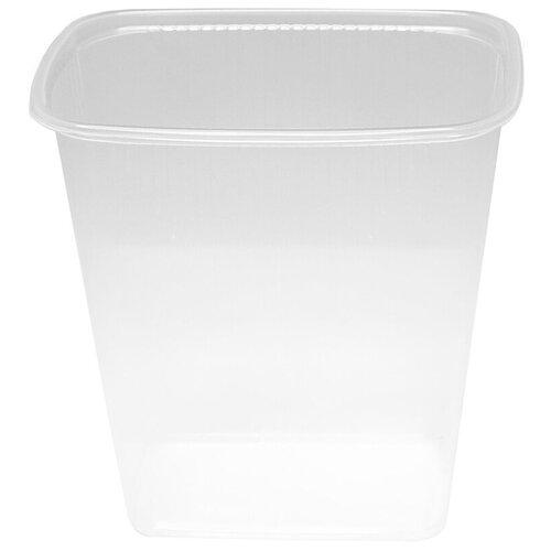 Контейнеры пищевые одноразовые Контейнеры одноразовые OfficeClean 500мл, набор 100шт., без крышек, 108*82*108мм, ПП, прозрачные