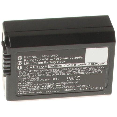 Аккумулятор iBatt iB-U1-F297 1080mAh для Sony Alpha NEX-5, Alpha SLT-A37, Alpha NEX-3, Alpha NEX-F3, Alpha NEX-6, Alpha NEX-5N, Alpha SLT-A33, Alpha NEX-5R, Alpha SLT-A35, Alpha NEX-7, Alpha SLT-A55V,