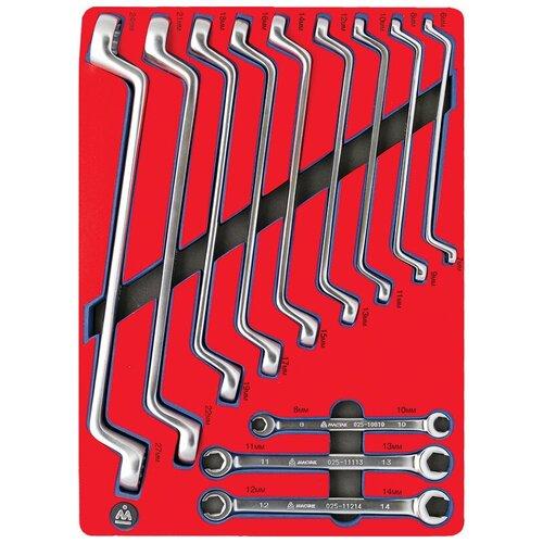 Фото - Набор гаечных ключей МАСТАК 5-23112, 12 предм., красный набор отверток мастак 04 20c 20 предм красный синий