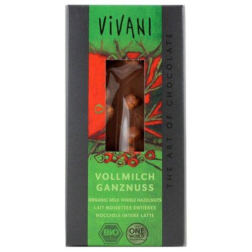 Фото - Шоколад Vivani молочный с цельным фундуком, 100 г шоколад dove 90г молочный с цельным фундуком одинцовская кф