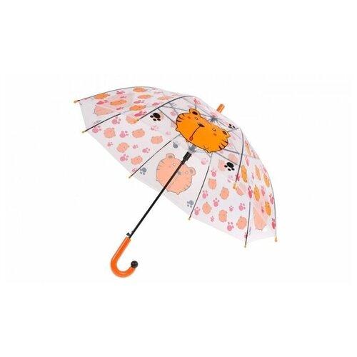 Зонт прозрачный детский «ТИГР»