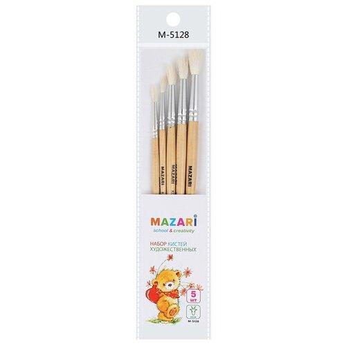 Купить Кисти художественные Mazari 5шт M-5128