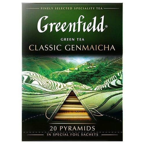 Чай зеленый Greenfield Classic Genmaicha в пирамидках, 20 шт. чай черный greenfield sicilian citrus в пирамидках 20 шт