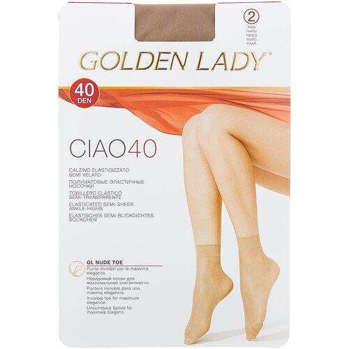 Капроновые носки Golden Lady Ciao 40 Den, 2 пары, размер 0 (one size), melon