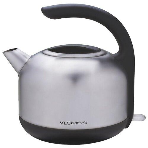 Чайник VES electric H-100-SS, серебристый фен щетка ves electric v hd500 черный серебристый