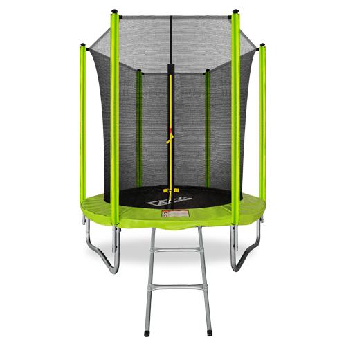 Фото - Батут 6FT с внутренней страховочной сеткой и лестницей (Light green) ARLAND каркасный батут arland премиум 16ft с внутренней страховочной сеткой и лестницей dark green