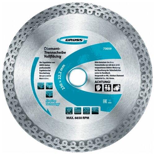 Фото - Диск отрезной алмазный GROSS 730367 алмазный диск gross 115х22 2мм 73028
