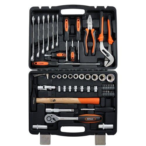 Набор инструментов AVSteel AV-011056, 56 предм., черный/оранжевый набор инструментов avsteel av 011056 56 предм черный оранжевый