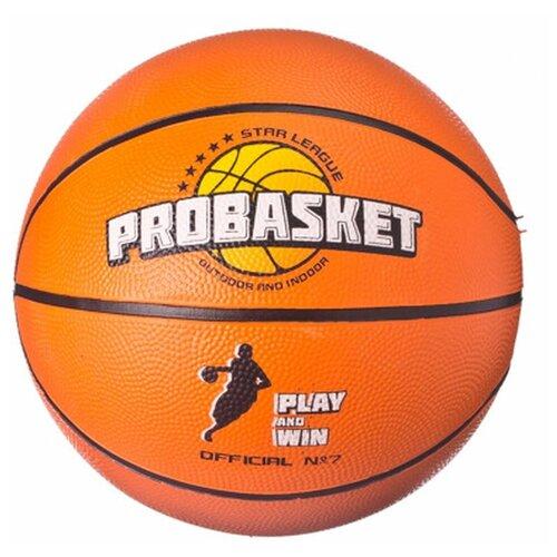 Мяч баскетбольный SILAPRO размер 7, 24см, резина, 550гр (+-10%)