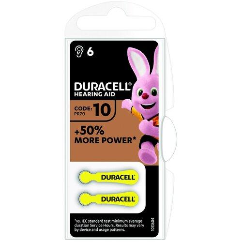 Фото - Батарейка Duracell ActiveAir 10/PR70, 6 шт. батарейки duracell activeair nugget box za675 da675 6bl