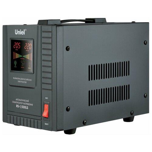 Стабилизатор напряжения однофазный Uniel RS-1/500LS черный