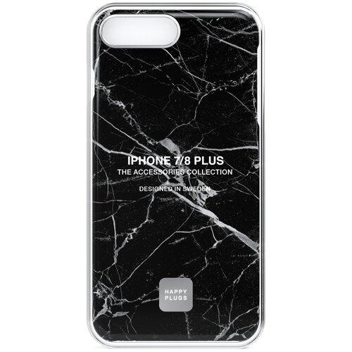 Фото - Чехол-накладка Happy Plugs 9152 + защитная пленка для Apple iPhone 7 Plus/iPhone 8 Plus Black Marble клип кейс happy plugs для apple iphone xs black marble черный мрамор