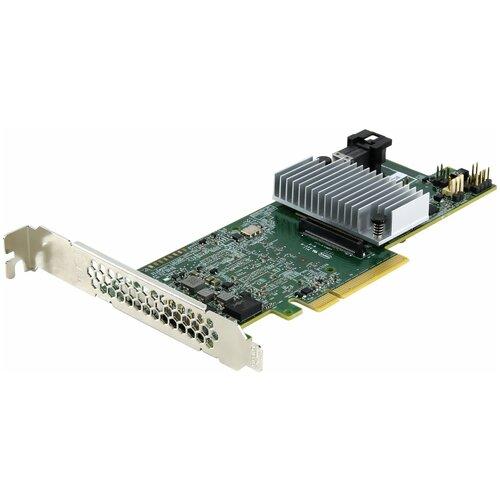 Фото - Контроллер SAS/SATA RAID LSI Logic MegaRAID SAS 9361-4i зеленый sas sata raid контроллер