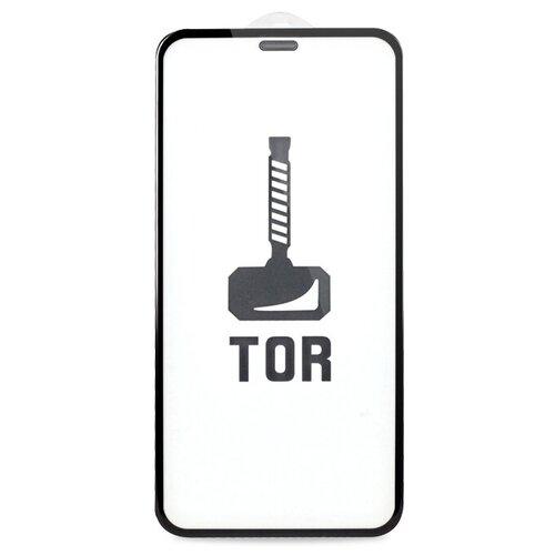 Корейское противоударное стекло для iPhone 12 Pro Max с Защитной сеткой на динамике / Стекло премиум класса на Эпл Айфон 12 Про Макс / TOP Premium от 3D до 21D (черный)