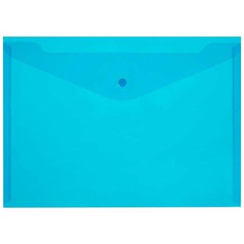 Купить Attache Папка-конверт на кнопке А4, 120 мкм, пластик, 10 шт синий, Файлы и папки