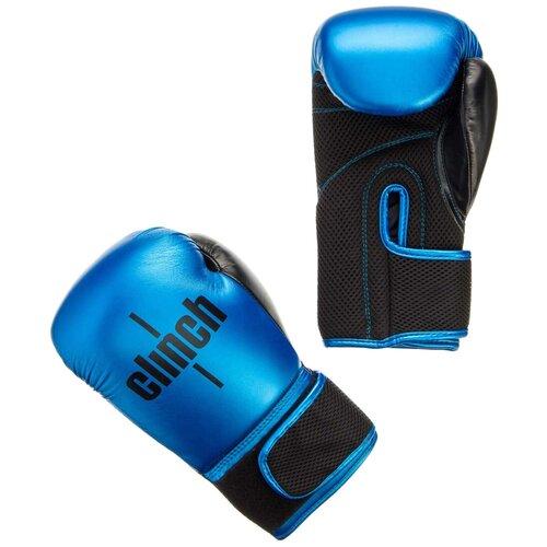 Боксерские перчатки Clinch Aero синий/черный 10 oz