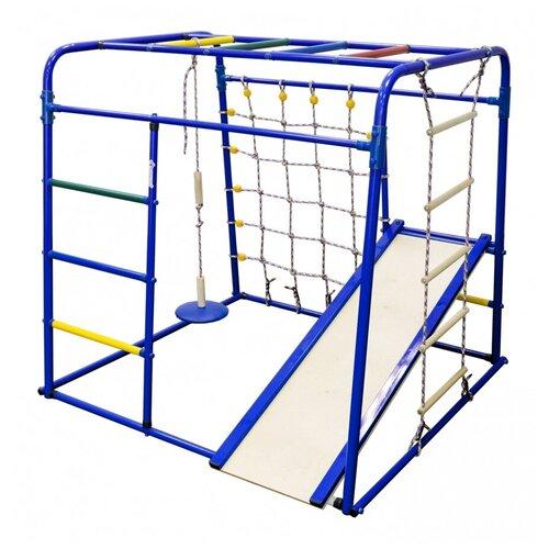 Купить Спортивно-игровой комплекс Формула здоровья Start baby 1 Плюс, синий/радуга, Игровые и спортивные комплексы и горки