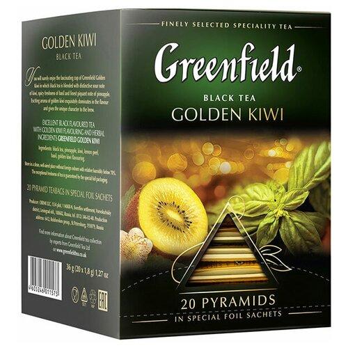 Чай черный Greenfield Golden Kiwi в пирамидках, 20 шт. чай черный greenfield sicilian citrus в пирамидках 20 шт