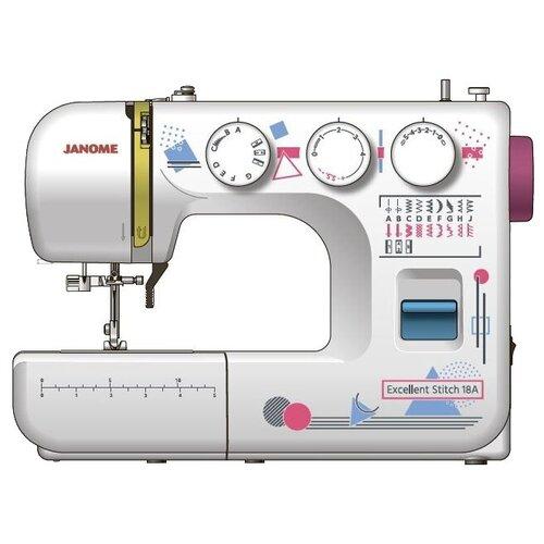 Швейная машина Janome Excellent Stitch 18A, белый