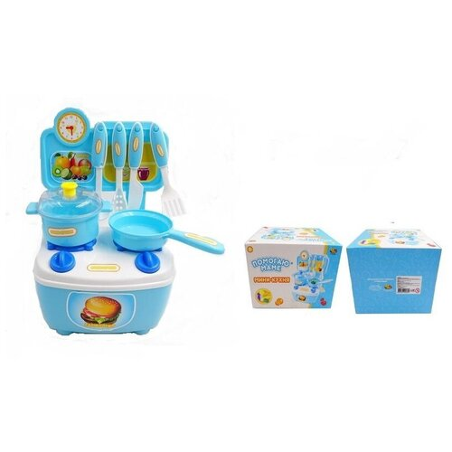 Фото - Кухня-мини ABtoys Помогаю Маме, с аксессуарами (PT-01267) кухня мини abtoys помогаю маме в чемоданчике с аксессуарами pt 01360